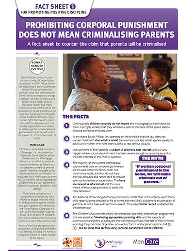 Positive Discipline Fact Sheets