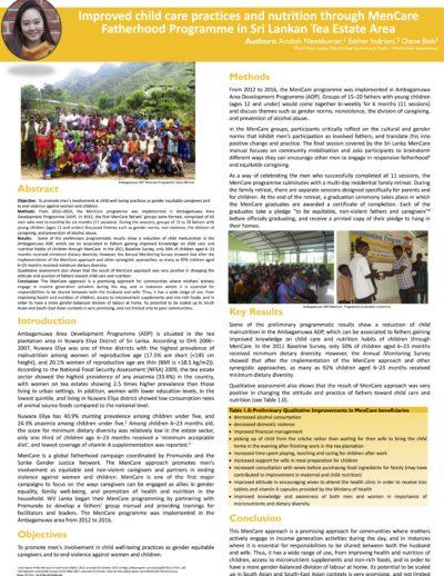 MenCare program in Sri Lankan Tea Estate Area