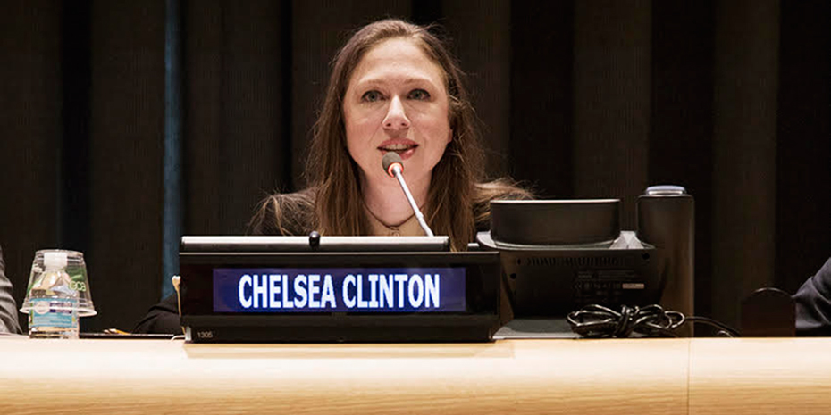 Chelsea Clinton opens the global launch of State of the World's Fathers at the United Nations. Credit: UNFPA/Ania Gruca