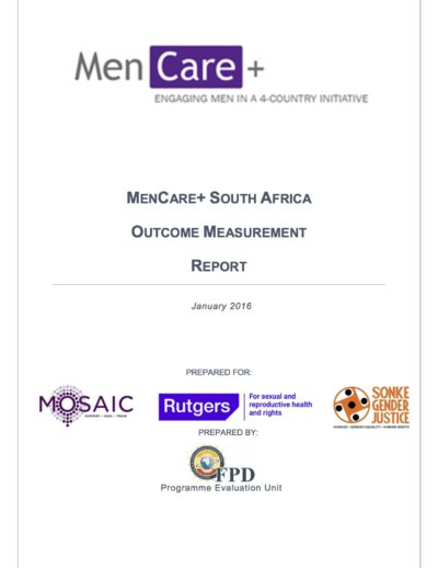 MenCare+ South Africa Outcome Measurement Report