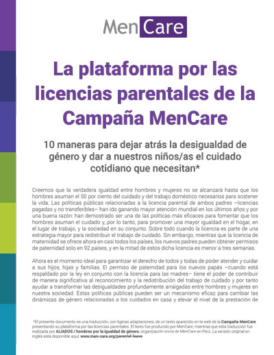 The MenCare Parental Leave Platform: Spanish Summary