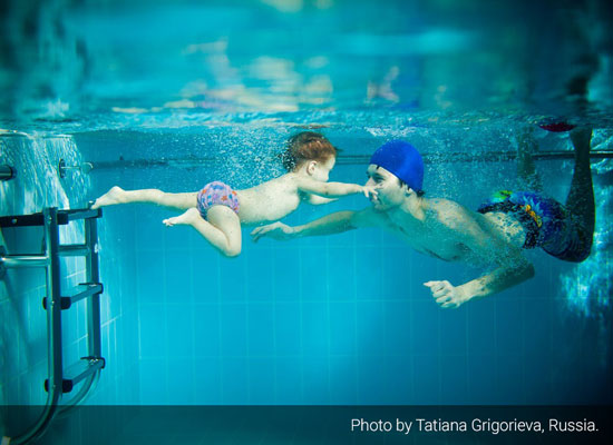 """Konstantin Grigoriev and his daughter Elina."" Photo by Tatiana Grigorieva, Russia."