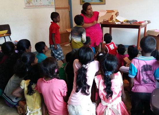 Children participate in the Nuwara Eliya Area Program's MenCare Family Retreat in May 2017. Photo courtesy of World Vision Lanka.